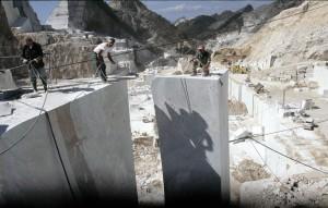 Cava di Gioia lavorazione (Foto Daniele Canali / Marmonews.it)